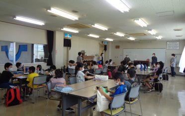 小学生へ夏休みの学校支援を行いました。